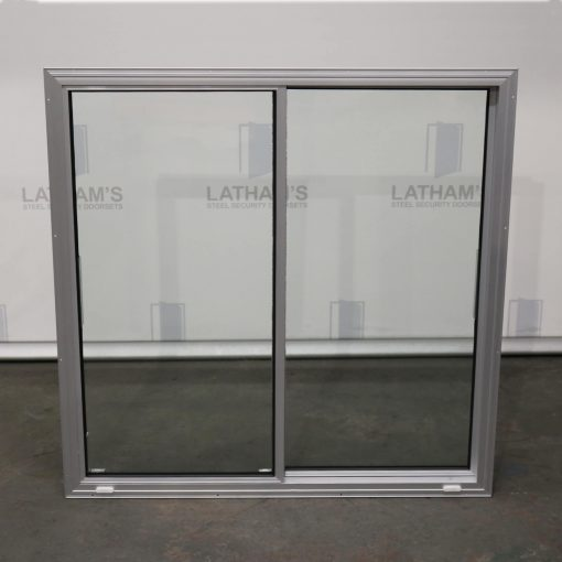 Front view of an aluminium double glazing unit