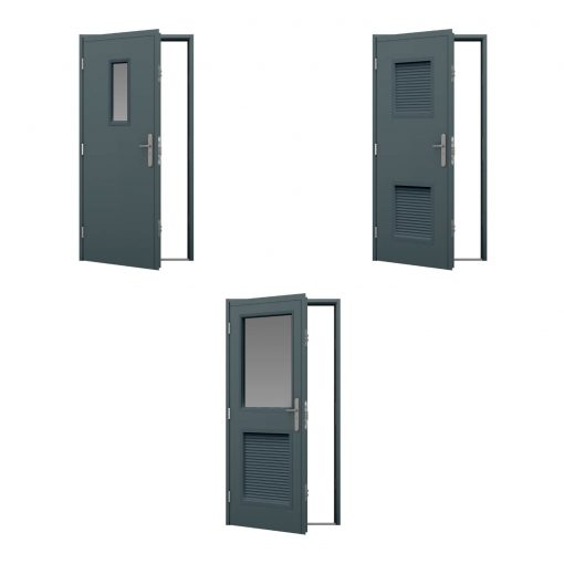 shipping container door vision & louvre panels