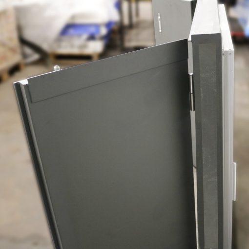 Side view of window shutter