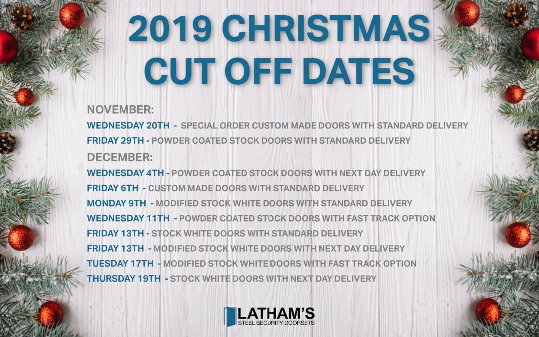Christmas Ordering Cut of Dates and Opening Hours 2019