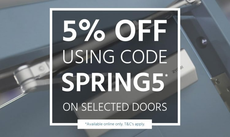 graphic showing 5% discount code SPRING5