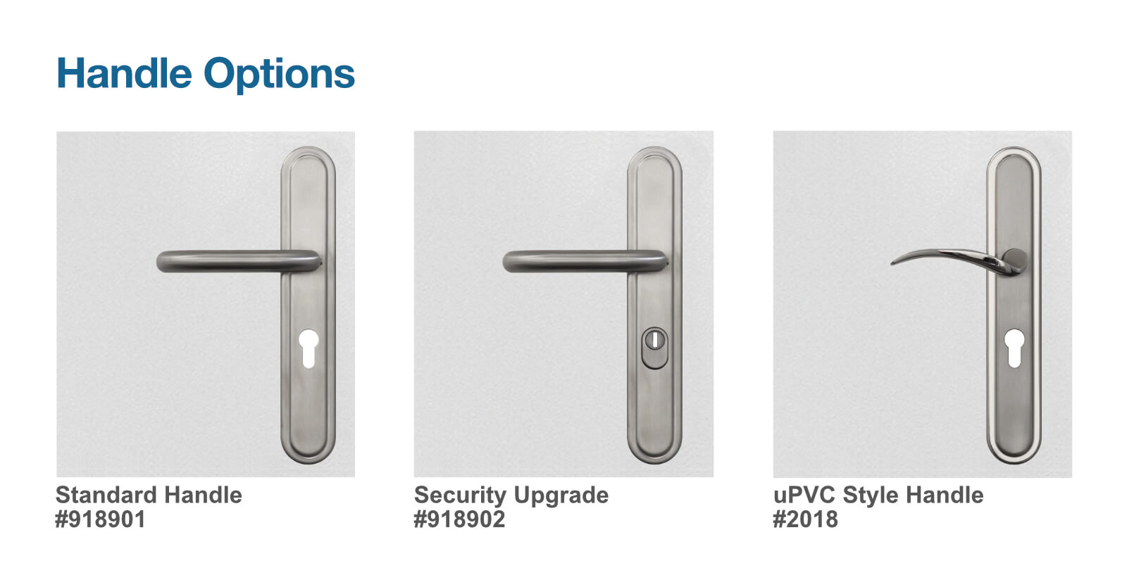 Handle options for container doors
