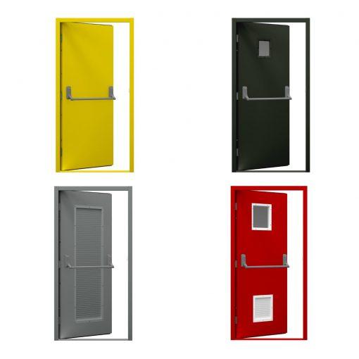 Four fire exit door variations