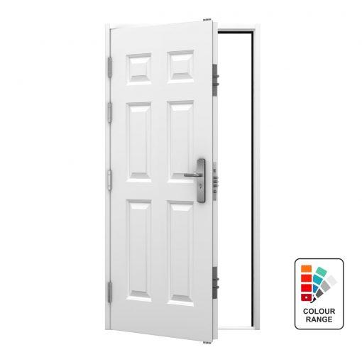 steel door with 6 panel georgian design from our Ultra Door range