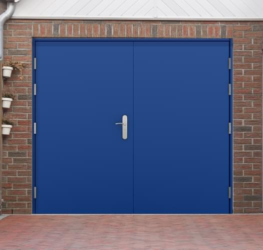 Steel garage and garage side doors