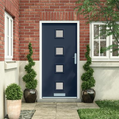 Latham's contemporary front door in oxford blue