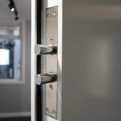 Image of side locks on a high security steel door
