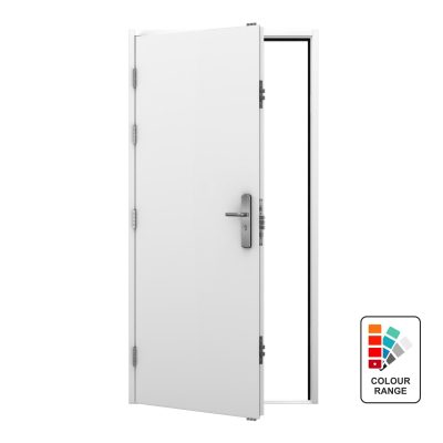 White security steel door with ral colour range icon