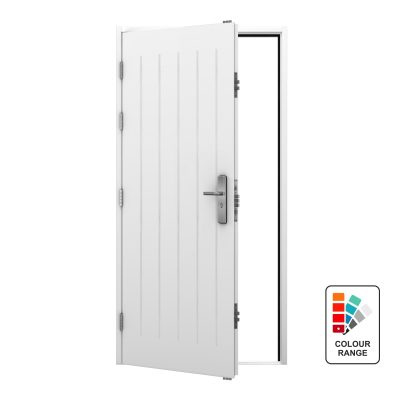 White cottage style door