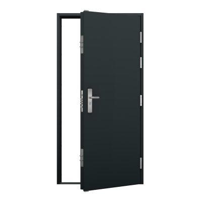 external view of an anthracite grey steel door
