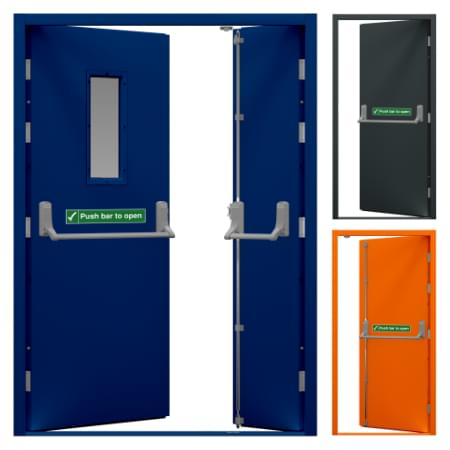 A selection of Latham's Fire Exit Doors
