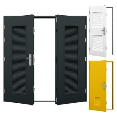 Louvred Steel Doors Category Image