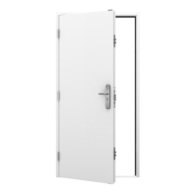 white budget steel door