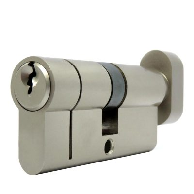 Container door thumb turn euro cylinder front view