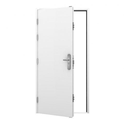 White Security Steel Door