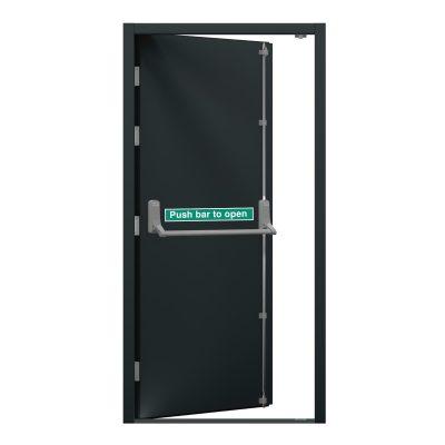 security fire exit door in anthracite grey