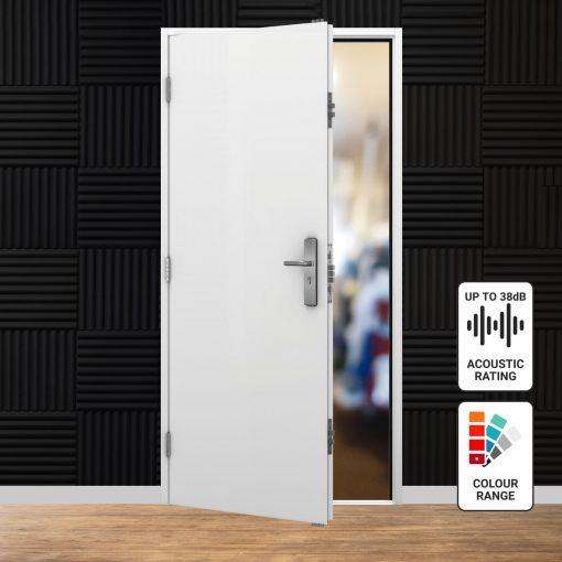 Acoustic steel door range