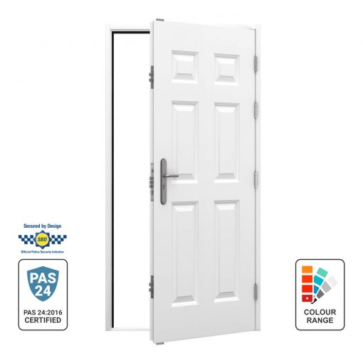 Right hinged opening out panelled door