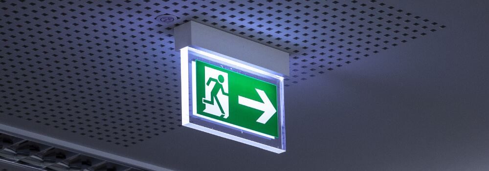 Example of and emergency exit sign
