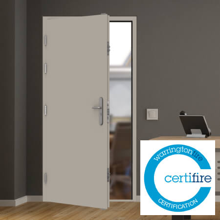 Fire rated steel personnel doors