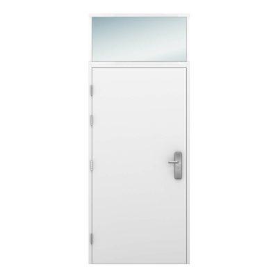 Glazed top light for Latham's steel door