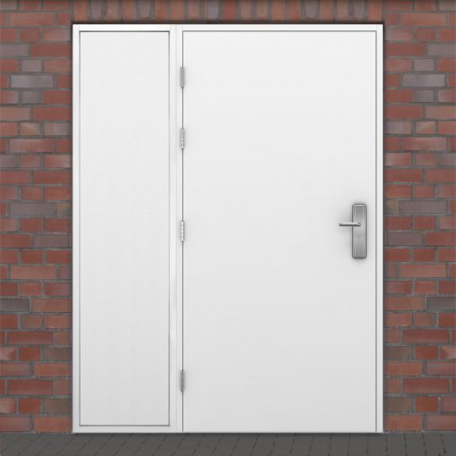 Latham's door with solid side panel