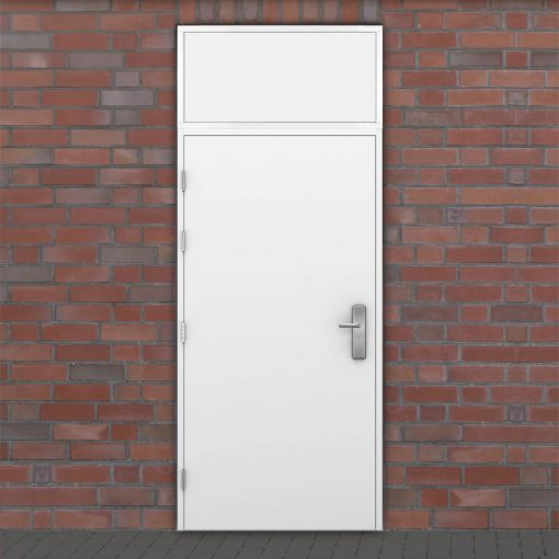 Latham's door with solid top panel