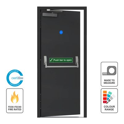 Custom made fire exit fire rated door