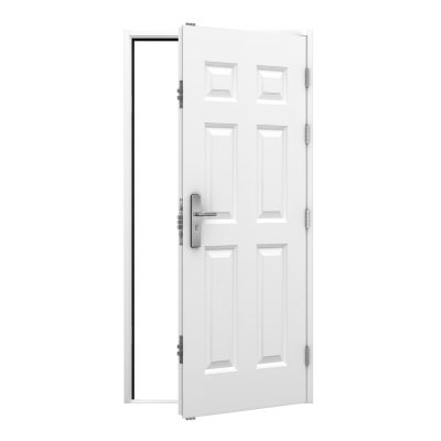 6 panel steel security door