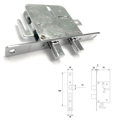 HOOPLY 506 side lock with CAD