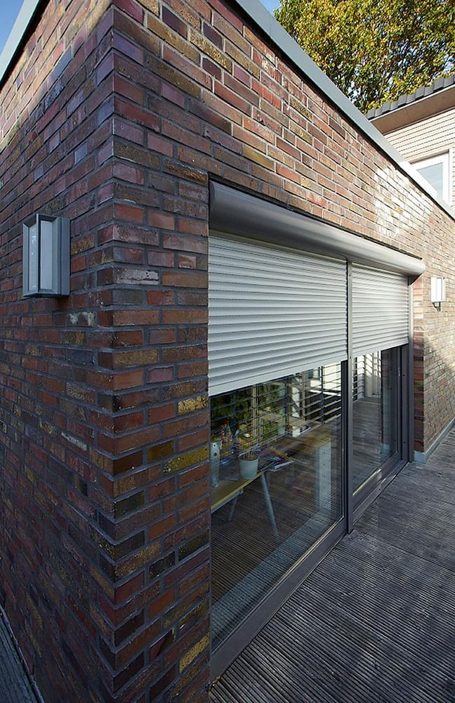 Example of a lintel window shutter