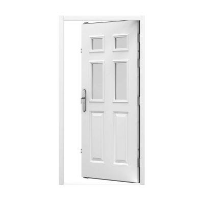 ripple white steel front door