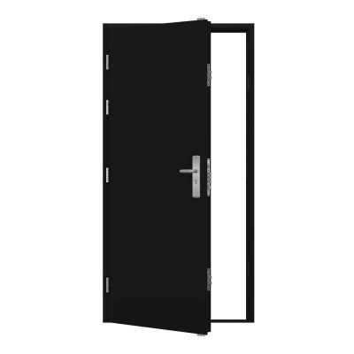Jet black security door