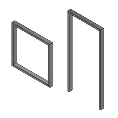 Steel goal post frames for container doors and shutters