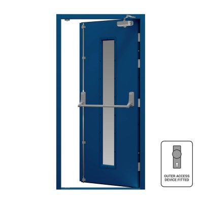 Genetian Blue door with closer and vision fitted