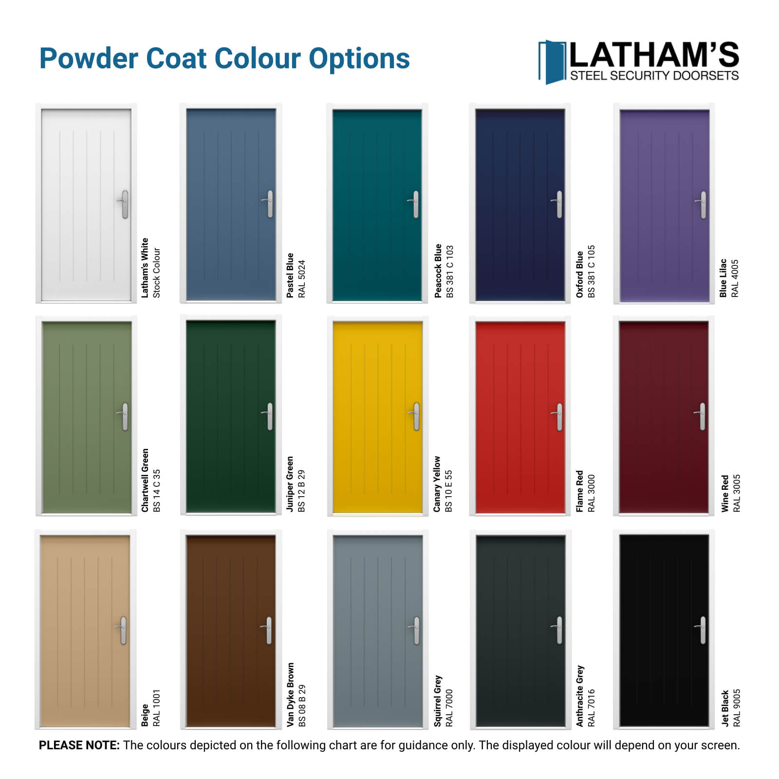 Cottage Style Front Door Powder Coating Colours