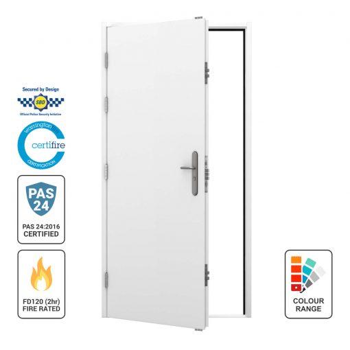 Dual Certfied Flush Steel Door LHO