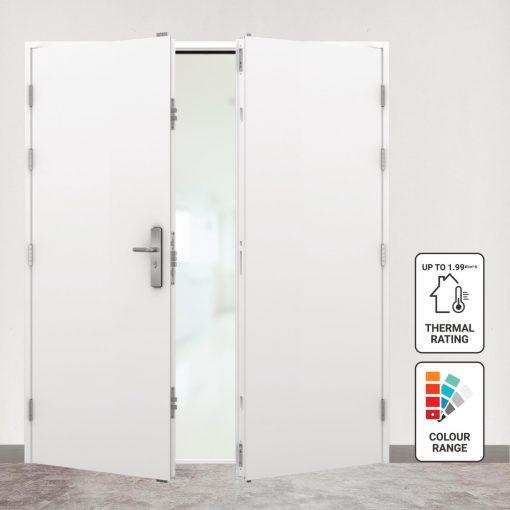 Double insulated steel doors main image