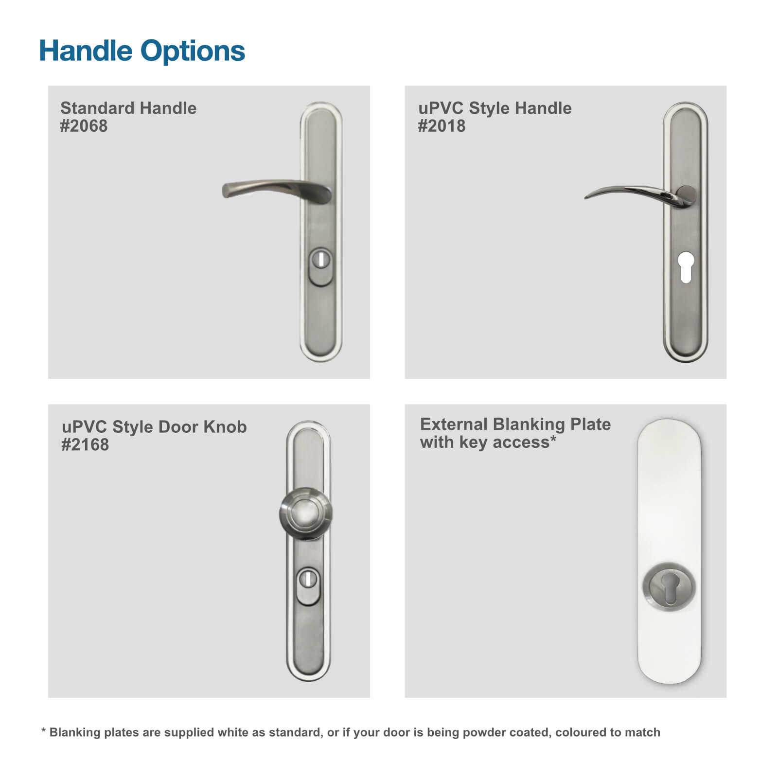 Front door handle options