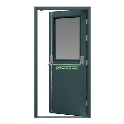 Anthracite grey fire exit door