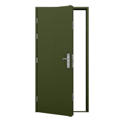 Olive green personnel door