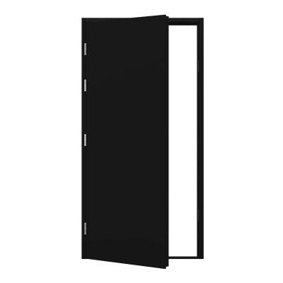 Jet Black Blank Steel Door