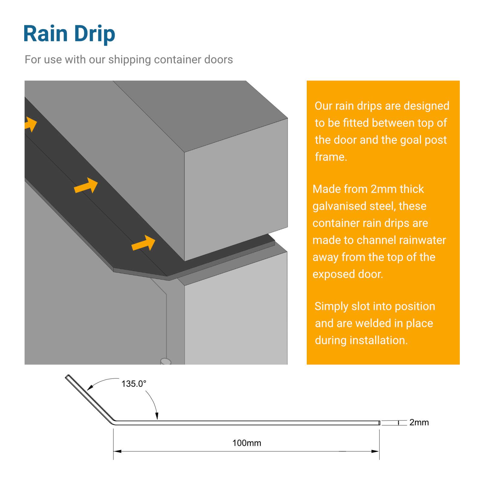 Rain Drip for Container Door