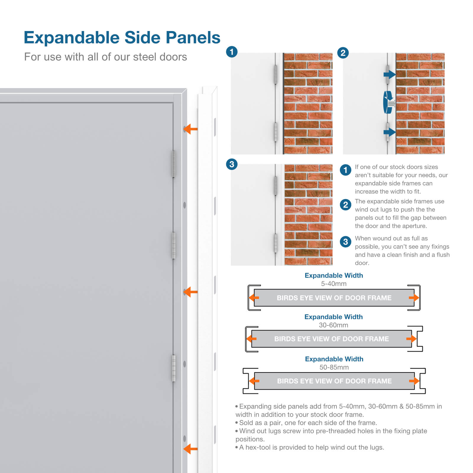 more information image for expandable side panels